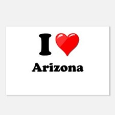 I Heart Love Arizona.png Postcards (Package of 8)