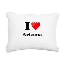 I Heart Love Arizona.png Rectangular Canvas Pillow