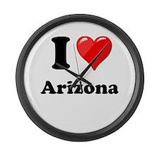 I Heart Love Arizona.png Large Wall Clock