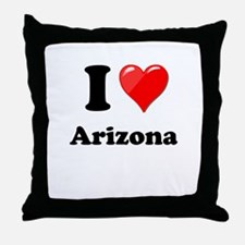 I Heart Love Arizona.png Throw Pillow