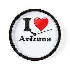 I Heart Love Arizona.png Wall Clock