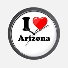 I Heart Love Arizona.png Wall Clock