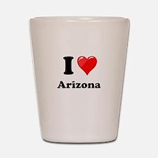 I Heart Love Arizona.png Shot Glass