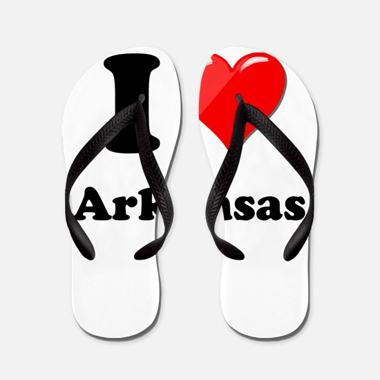 I Heart Love Arkansas.png Flip Flops