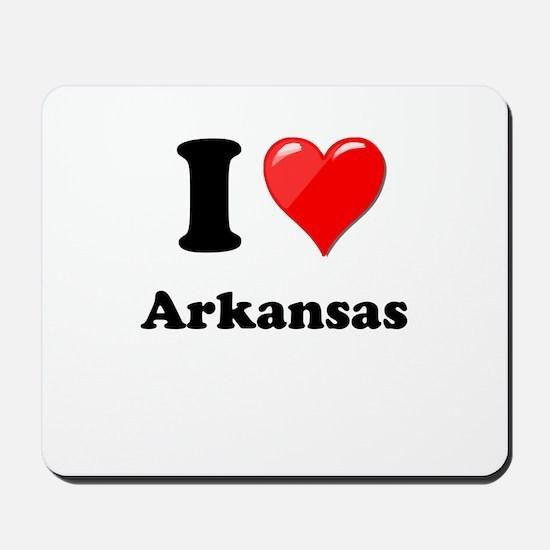 I Heart Love Arkansas.png Mousepad