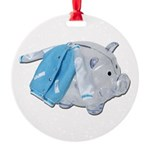Letterman Jacket Piggy Bank Round Ornament