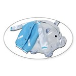 Letterman Jacket Piggy Bank Sticker (Oval 10 pk)