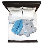 Letterman Jacket Piggy Bank King Duvet