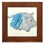 Letterman Jacket Piggy Bank Framed Tile