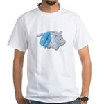 Letterman Jacket Piggy Bank White T-Shirt