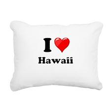 I Heart Love Hawaii.png Rectangular Canvas Pillow