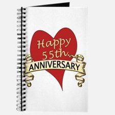 Cute 55 years anniversary Journal