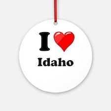 I Heart Love Idaho.png Ornament (Round)