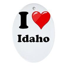 I Heart Love Idaho.png Ornament (Oval)