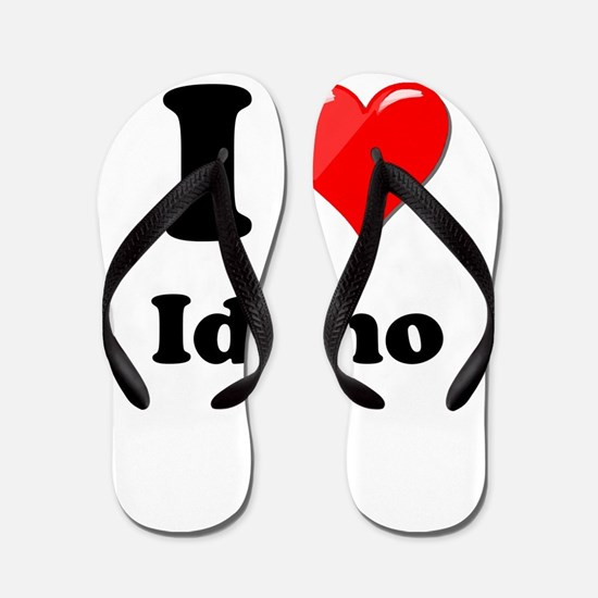 I Heart Love Idaho.png Flip Flops