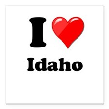 "I Heart Love Idaho.png Square Car Magnet 3"" x 3"""