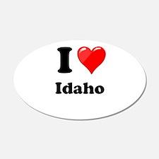 I Heart Love Idaho.png Wall Decal