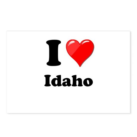 I Heart Love Idaho.png Postcards (Package of 8)