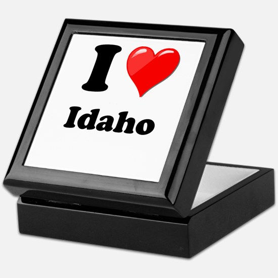 I Heart Love Idaho.png Keepsake Box