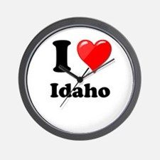 I Heart Love Idaho.png Wall Clock