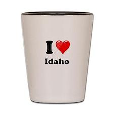 I Heart Love Idaho.png Shot Glass