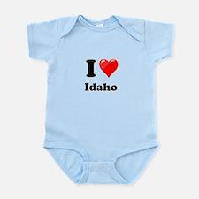 I Heart Love Idaho.png Infant Bodysuit