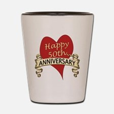 Cute 50th anniversary Shot Glass