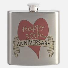 Unique 50th wedding anniversary Flask