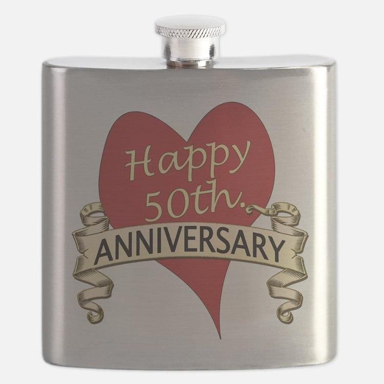 Cute Wedding anniversary Flask