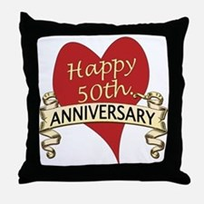 Cool 50th anniversary Throw Pillow