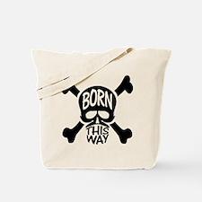 Born This Way Skull Tote Bag