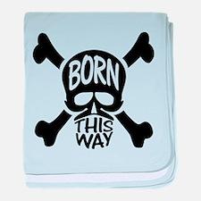 Born This Way Skull baby blanket