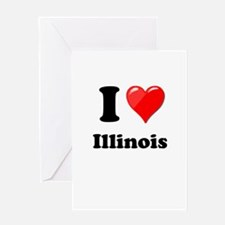 I Heart Love Illinois.png Greeting Card