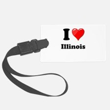 I Heart Love Illinois.png Luggage Tag