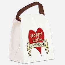 Cute Anniversary Canvas Lunch Bag