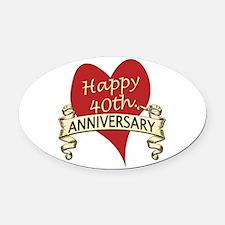 Cute Wedding anniversary Oval Car Magnet