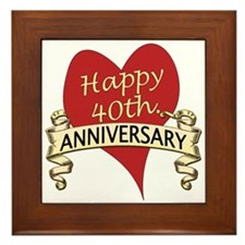 Unique 40th wedding anniversary Framed Tile