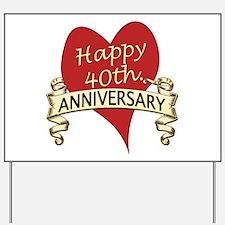 Unique 40th wedding anniversary Yard Sign
