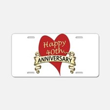 Cute Wedding anniversary Aluminum License Plate