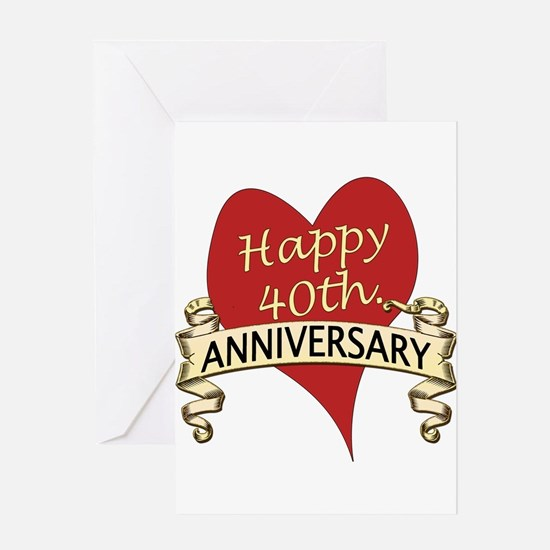 40th. anniversary Greeting Cards