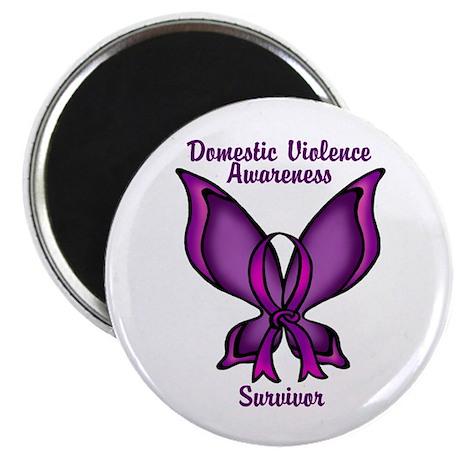 Domestic Violence Awareness Purple Magnets