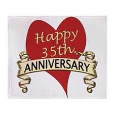 Funny Wedding anniversary Throw Blanket