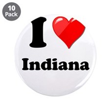 """I Heart Love Indiana.png 3.5"""" Button (10 pack)"""