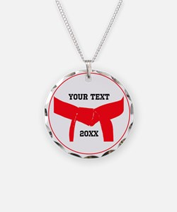 Custom Martial Arts Red Belt Necklace