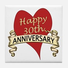 Cool 30th wedding anniversary Tile Coaster