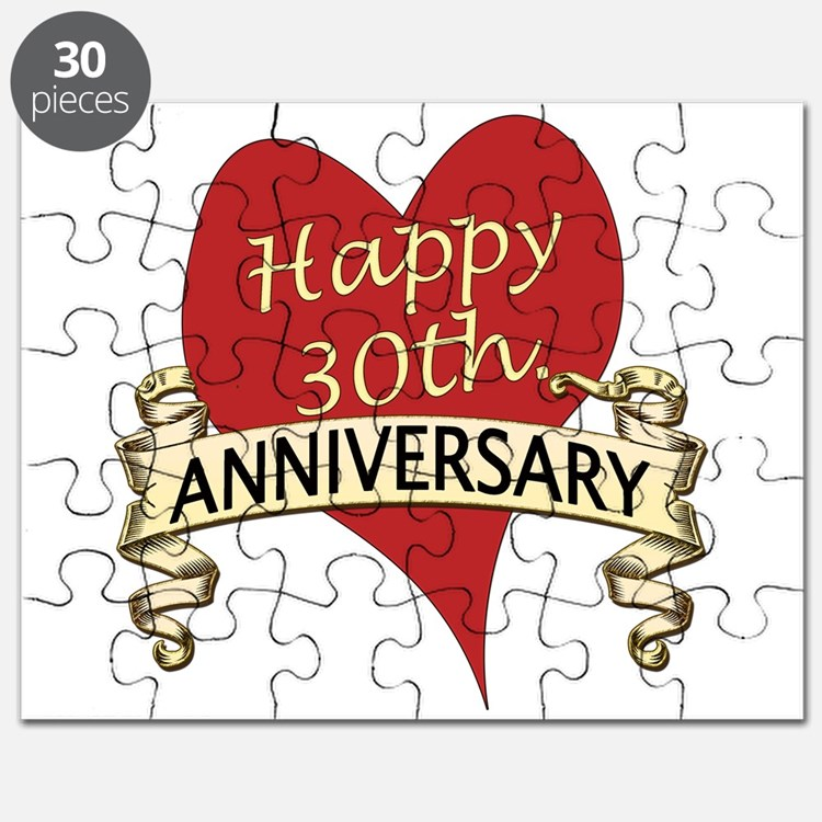 Cute 30th wedding anniversary Puzzle