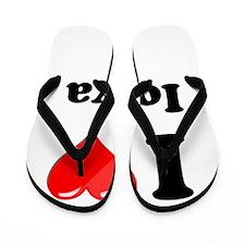 I Heart Love Iowa.png Flip Flops