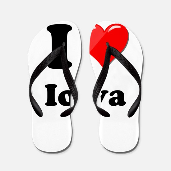 I Heart Love Iowa.png Flip Flops