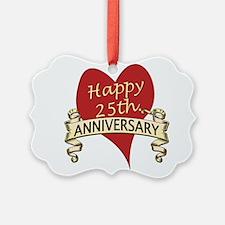 Funny 25th wedding anniversary Ornament