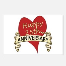 Cool 25th wedding anniversary Postcards (Package of 8)